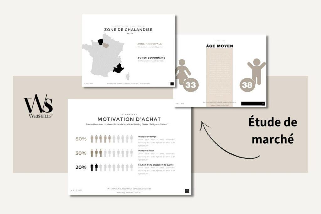 étude de marché wedding planner designer