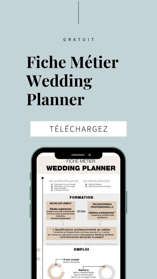 fiche métier pour devenir wedding planner